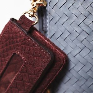 Free People Women/'s Nomad Mini Wallet Brown Leather